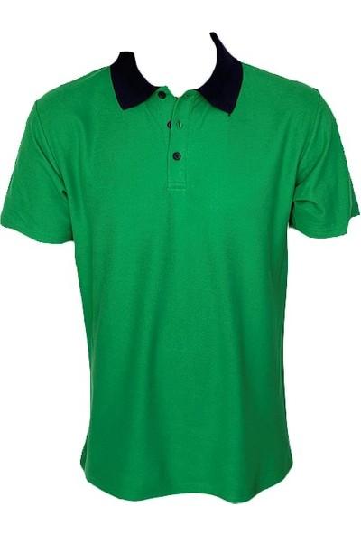Fit And Size Erkek Polo Yaka Arkası Baskılı Tshirt