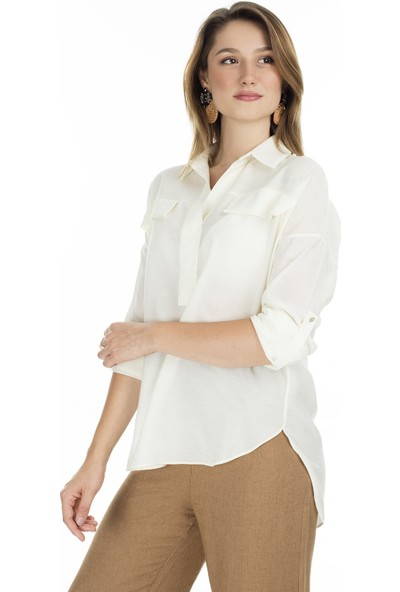 Ayhan V Yaka Gömlek Kadın Gömlek 04650445