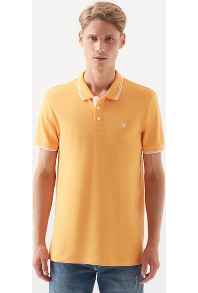 Mavi Koyu Sarı Polo T-Shirt