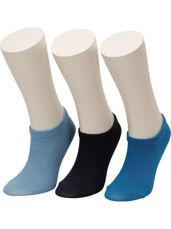 I Cool Basic 3'lü Ptk-B Mavi Multi Erkek Çocuk Çorap