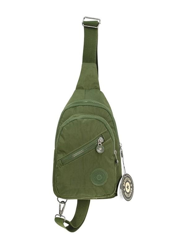 Bevitton Krinkıl Haki Yeşil Çapraz Çanta
