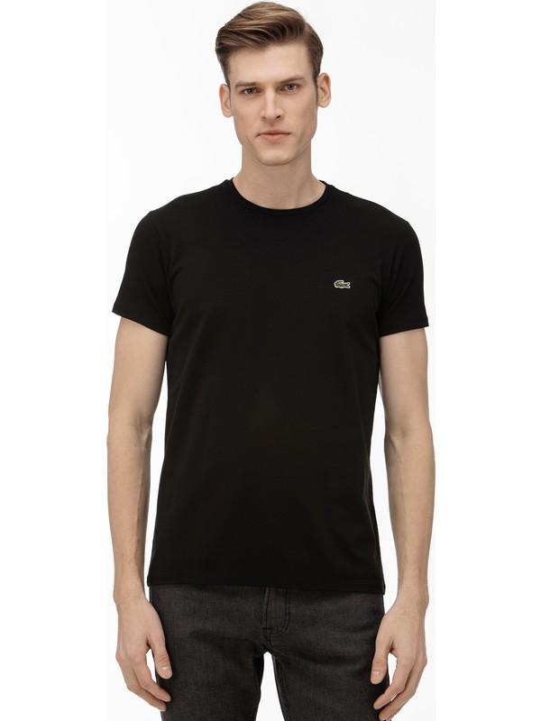 Lacoste Erkek Bisiklet Yaka Siyah T-Shirt TH0998.031