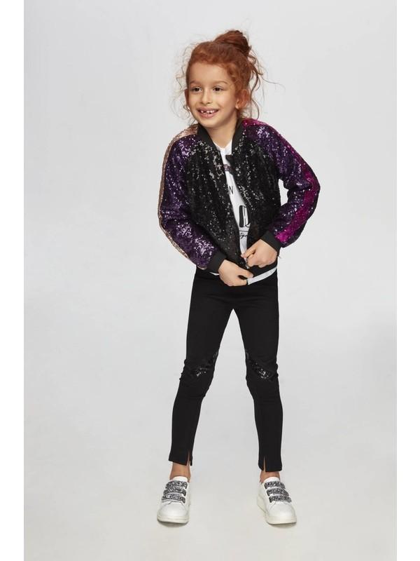 Tyess Kız Çocuk Siyah Ceket