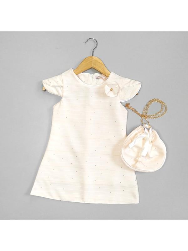 Lady Pul Ayrıntılı ve Çantalı Kız Bebek ve Çocuk Elbise
