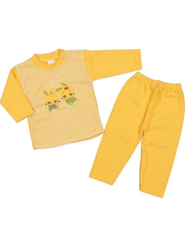 AlpCollection Tavşan Çocuk 2li Pamuklu Alt Üst Pijama Takım
