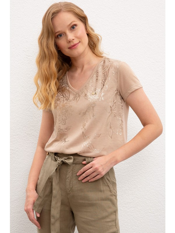 U.S. Polo Assn. Kadın T-Shirt 50218041-999