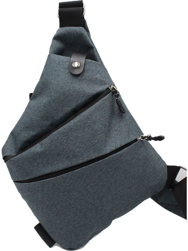 ByHakan Body Bag Çapraz Sırt ve Göğüs Çantası Füme