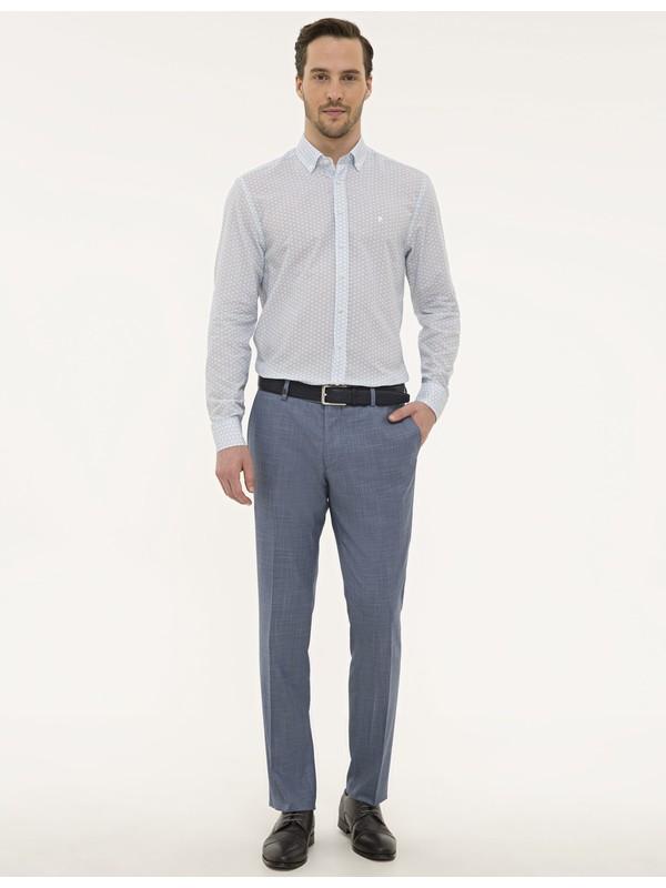 Pierre Cardin Koyu Mavi Slim Fit Pantolon 50229768-VR032