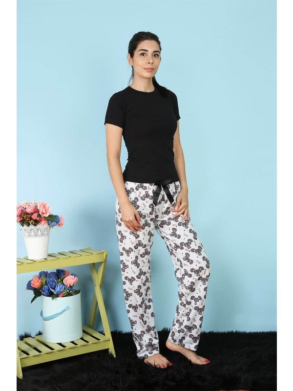 Akbeniz Kadın Tek Alt Pijama 27156