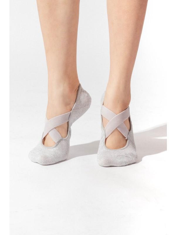 Katia&Bony Asta Yoga Basic Görünmez Çorap - Gümüş