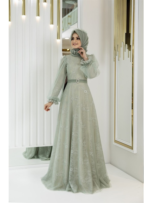 Pınar Şems Sim Abiye Yeşil
