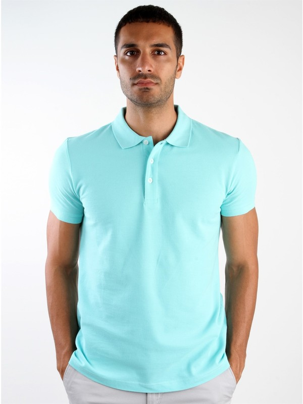 Dufy Su Yeşili Erkek T-Shirt - Slim Fıt
