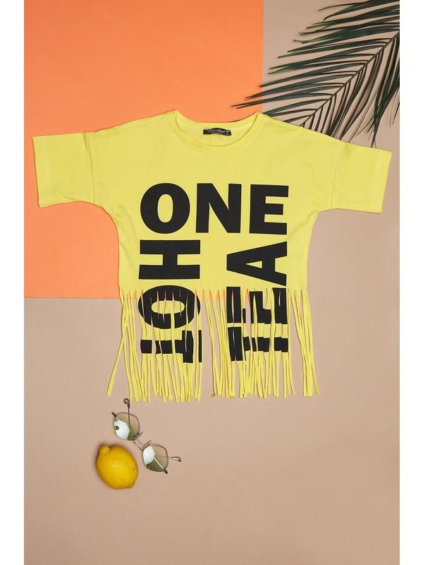 Fullamoda Kız Çocuk Püsküllü Tshirt