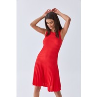 Triko Mısırlı Kadın Elbise W20S A008 El107 Kırmızı