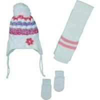 Kitti Kız Bebek 0-18 Ay Atkı-Bere-Eldiven Takımı