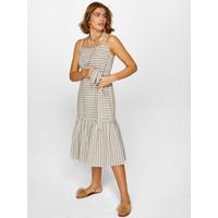 Faik Sönmez Askılı Çizgi Desenli Elbise 60292