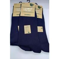 Emre Lacivert Bambu Dikişsiz Erkek Çorabı 6'lı Paket
