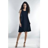 Cotton Mood 20071988 Bodrum Askılı Cepli Elbise Siyah