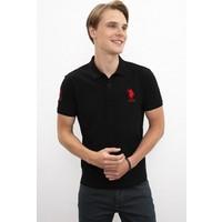 U.S. Polo Assn. Erkek Siyah T-Shirt 50218831-Vr046