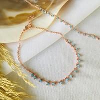 Pearl Beads Mavi Boncuklu Halhal