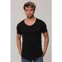 Tarz Cool Siyah Pis Yaka Salaş T-Shirt - TARZPSSYH001