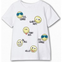 Name İt Erkek Çocuk Emoji Baskılı T-Shirt