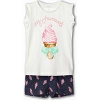 Name İt Kız Çocuk Dondurma Baskılı Set