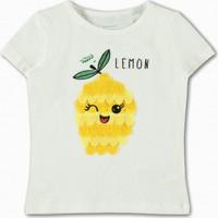 Name İt Kız Çocuk Limon Baskılı T-Shirt