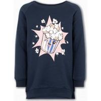 Name İt Kız Çocuk Popcorn Baskılı Sweatshirt