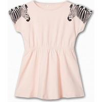 Name İt Kız Çocuk Zebra Detaylı Elbise