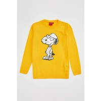 DeFacto Kız Çocuk Snoopy Lisanslı Triko Kazak N8513A620AU