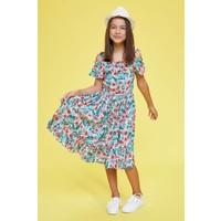 Defacto Kız Çocuk Baskılı Dokuma Elbise