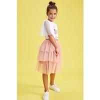 DeFacto Kız Çocuk Beli Sim Lastikli Tül Etek R4733A620HS