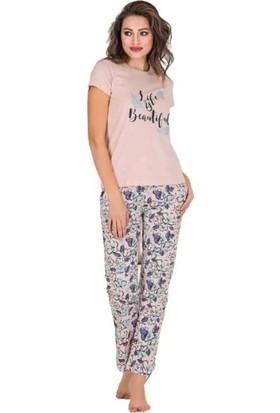 Berland Kadın Modal Kısa Kol Pijama Takımı 3186