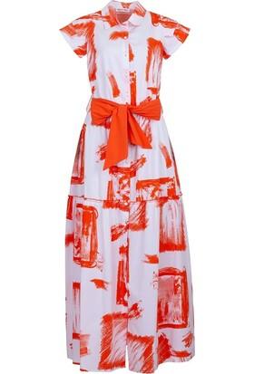 Bize Fashion 2415 Kadın Elbise Beyaz