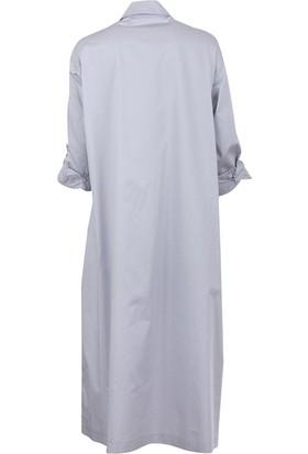Bize Fashion 2293 Kadın Elbise Açık Gri