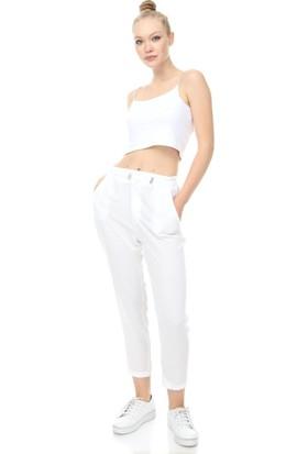 Giysimburada Beli Düğmeli ve Ayarlı Pantolon