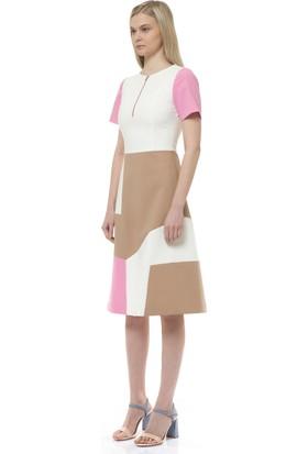 Birelin Blok Renkli Elbise