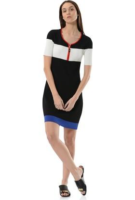 Birelin Fermuar Detaylı Triko Elbise
