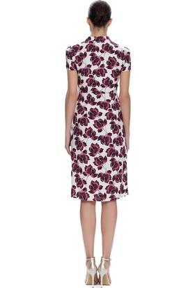 Demet Şener Çiçek Desenli Elbise