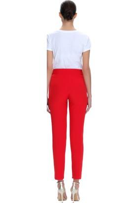 Demet Şener Kırmızı Cigarette Pantolon