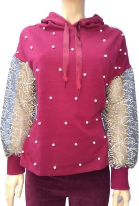 Rose Moda Kadın Kapüşonlu Sweatshirt