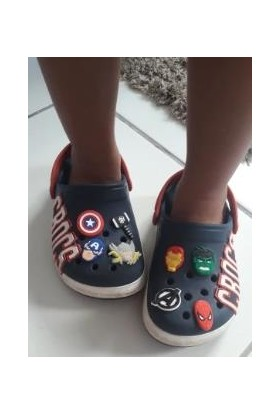 Schulzz 19 Adet Crocs Terlik Süsleri Jıbbıtz Avengers Süper Kahramanlar Serisi Renkli Aksesuar