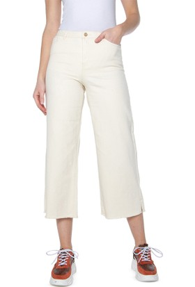 Only 15196157 Kadın Onlsonny Hw Wıde Crop Dnm Jeans York Jeans Solid Denim Pantolon 20Y