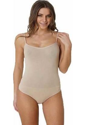 Focuswear 2'li Paket Ince Askılı Çıtçıtlı Lyc. Kadın Body