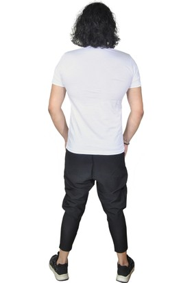 Baykim Beyaz Taşlı Rahat Kalıp Tişört