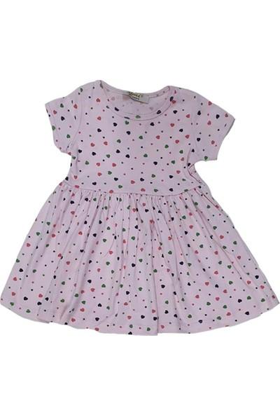 Sellfie Almi Kalp Baskılı Elbise