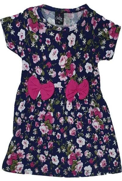 Sellfie Çiçek Desenli Fiyonklu Elbise