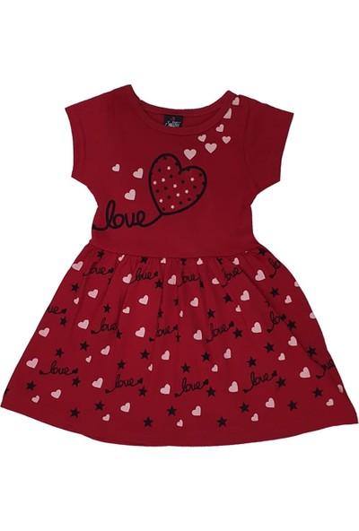 Sellfie Love Baskılı Kalpli Elbise