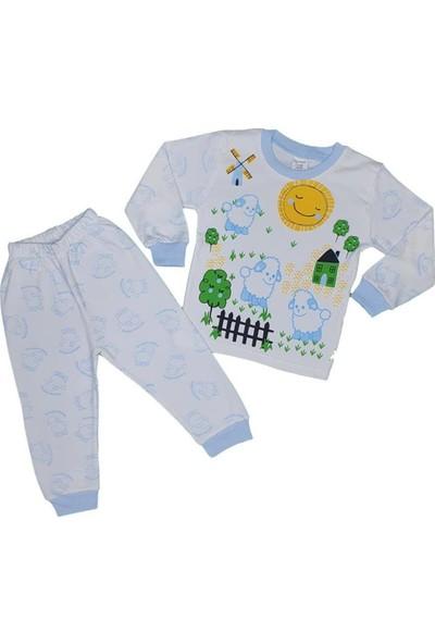 Süper Mini Koyun Modelli Pijama Takımı